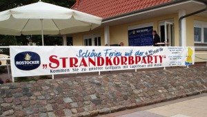 Banner ... made in Rostock.